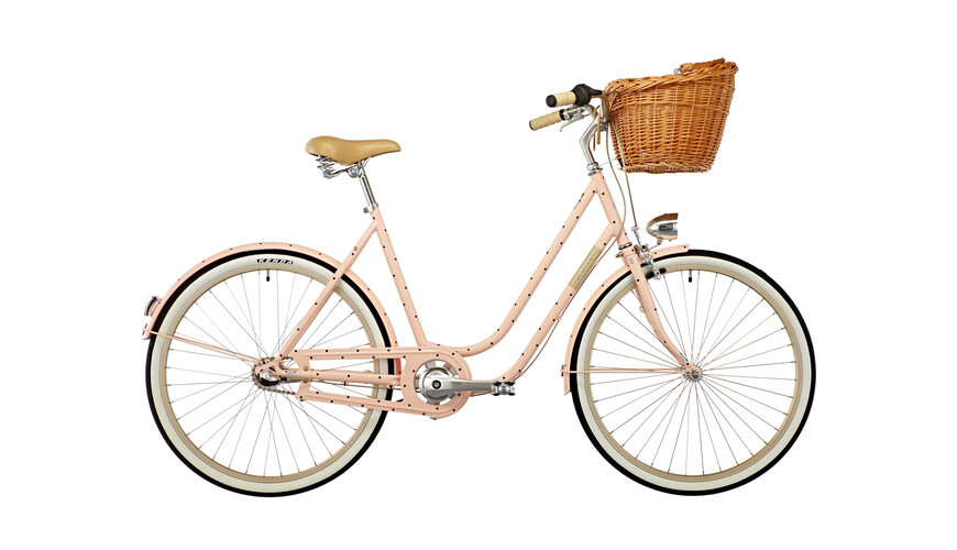 "Creme Molly omafiets Dames 26"" 3-speed roze"